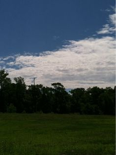 Thomasina's Words: Happy Sunday! Blue Skies White Clouds