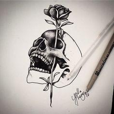 Fresh WTFDotworkTattoo Find Fresh from the Web In prog #skull #rose #WIP #pointillism #blackwork #dotwork #dotart #ink #tattooapprentice #tattoo #drawing #art #artwork #helsinki #liskogalleria nella_theresa WTFDotWorkTattoo