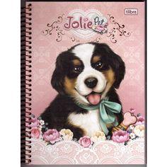 Caderno Univ. 96 folhas Tilibra Jolie Pet Cachorro - UN - Espiral ...