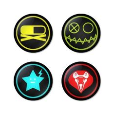 """MY CHEMICAL ROMANCE round badges 1.75"""" Pinback ($7.49) ❤ liked on Polyvore featuring home, kitchen & dining and kitchen gadgets & tools"""