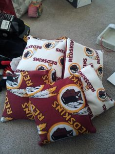 #Redskins pillows for tailgating. Sent in by Banfer!