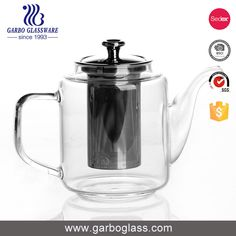 Double-walled glass teapot with infuser!