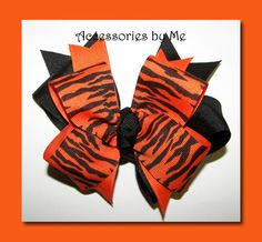 tiger cheer bows 12 pc lot team discount price