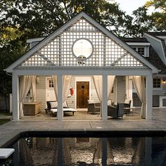 Outdoor Living   Think of your patio as an extension of your home. Make the most of your square footage by highlighting the outdoor area with roof and beams. This will add extra value to your home, and of course a fabulous place to enjoy afternoons.