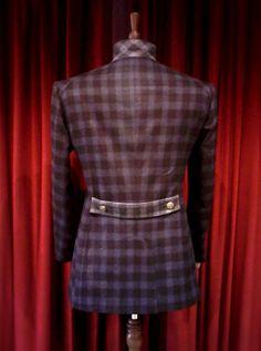 DAVIDE TAUB: 'Clan-Check' Curved-Seam Jacket & Black Curved-Seam Skinny Jean/Part II, 2011