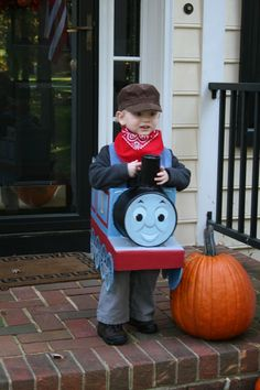 Thomas the Tank Engine Halloween Costume. Wish Iu0027d thought of that when my son was such a train buff back in the old days. & engine costumes | ... Mommy: DIY Thomas the Tank Engine u0026 Sir Topham ...