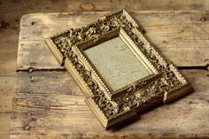 Antique Distressed Mirror Aged Glass and Brass Frame
