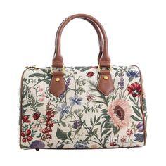 f2ff7d55b1 Signare Womens Tapestry Fashion Handbag Bowling Barrel Bag in Floral  Morning Garden Garden Bags
