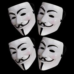 Accessories 4 X Anonymous Hacker V For Vendetta Guy Fawkes Fancy Dress Halloween Face Mask Scary Halloween Costumes, Halloween Face Mask, Halloween Fancy Dress, Halloween Cosplay, Halloween Parties, Happy Halloween, Birthday Parties, Mask Guy, V For Vendetta Mask