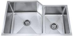 Kraus KHU123-32 32-Inch Undermount 70/30 Double Bowl 16 gauge Kitchen Sink, Stainless Steel by Kraus, http://www.amazon.com/dp/B0032C2NCG/ref=cm_sw_r_pi_dp_AtsLrb17JKCWZ