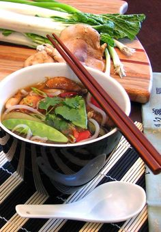 Weight Watchers Zero Point Asian Soup - Filling enough for a carnivore without…