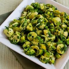 Vegan Heart of Palm and Avocado Salad with Lime, Green Onion, and Cilantro