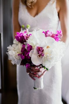 Purple and White Bridal Bouquet | Amber Gress Photography on @Love Inc. via @Aisle Society