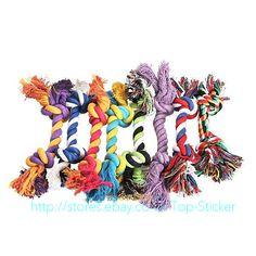 2Pcs Pet Cotton Braided Bone Rope Knot Dental Chew Puppy Dog Fun Toy Teeth Clean in Pet Supplies, Dog Supplies, Toys | eBay