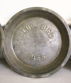 Vintage Blue Bird Pie Tin