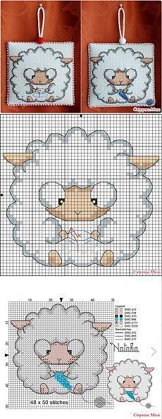 Pecorelle punto croce
