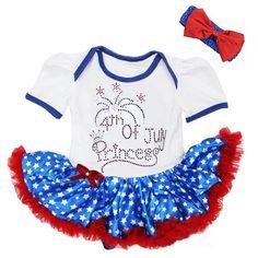 4th July Princess Bodysuit X-Large Blue