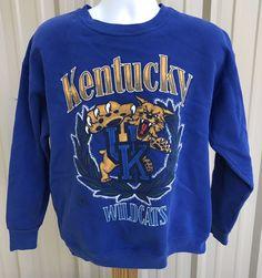 4640d0ad932 Vintage University Of Kentucky Wildcats Blue XL Sweatshirt NCAA SEC