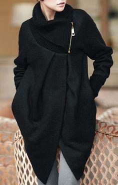 пальто с рукавом реглан