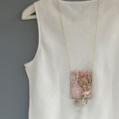 Upcycled Ecofriendly long Fabric necklace. by ATLIART on Etsy