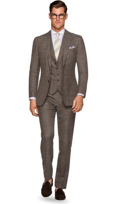 Suit Brown Plain Havana P5430 | Suitsupply Online Store