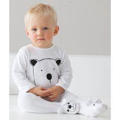 Pijama com pés em veludo R Baby | La Redoute