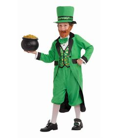 Love this Green Leprechaun Dress-Up Outfit - Boys on #zulily! #zulilyfinds