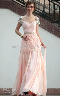 Long Prom Dresses With Short Sleeves