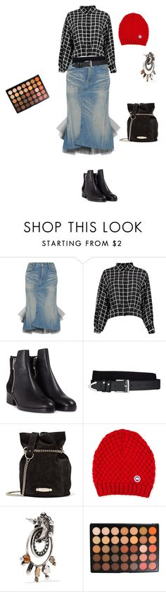 """Untitled #3106"" by ayse-sedetmen ❤ liked on Polyvore featuring Junya Watanabe, 3.1 Phillip Lim, Arcade, Lanvin, Canada Goose, DANNIJO and Morphe"