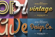 Vintage Text Effects by Zeppelin Graphics. Very easy to use....