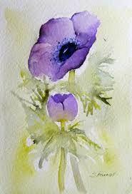 anemones in watercolour - Google Search