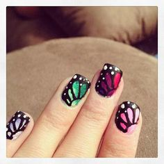 Multicolor Ombre Buttery Nails