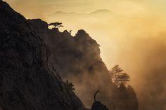 Закат в Долине привидений. Долина привидений, Крым, Март 2015 #закат #крым #пейзаж #природа #туман Author: Купрацевич Дмитрий