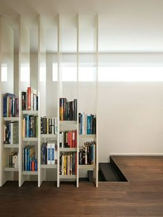 awesome shelf idea to break up home and work space