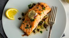 Salmon With Anchovy Butter