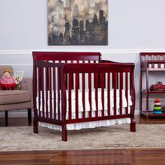 Dream On Me Aden 4-in-1 Convertible Mini Crib - Cherry