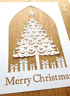 Papercut TEMPLATE  'Christmas Tree' Papercutting by TommyandTillyDesign