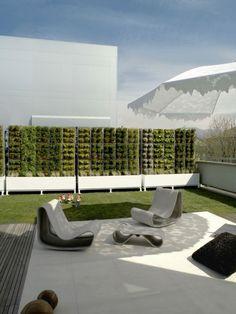 Terrasse Möbel-grüner Windschutz Sichtschutz Ideen-Designer Möbel