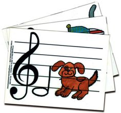 PRE-READING MUSICAL FLASHCARDS