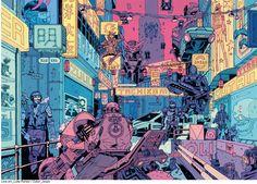 TheFutureisNow by future-parker on DeviantArt Cyberpunk Rpg, Cyberpunk Aesthetic, Cyberpunk Fashion, Graphic Novel Art, Futuristic City, Environment Concept Art, Sci Fi Fantasy, Aesthetic Art, Character Art