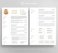 Resume Template no1 Cover letter Reference page von ResumeAngels