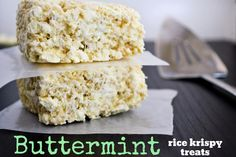 Mallow and Co: Buttermint Rice Krispy Treats