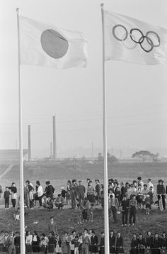 1964 Summer Olympics 1964 Summer Olympics -- Pictured: Japanese spectators outside the Olympic Stadium in Tokyo, Japan -- Photo by: NBCU Photo Bank