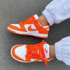 Dr Shoes, Cute Nike Shoes, Swag Shoes, Cute Nikes, Cute Sneakers, Nike Air Shoes, Hype Shoes, Shoes Sneakers, Orange Nike Shoes