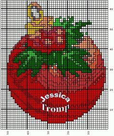 Christmas Ornament Cross Stitch or Perler Bead Pattern