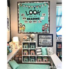 Added a few new things to my reading above my reading nook. I wish this area would stay clean and organized by the end of… Reading Corner Classroom, New Classroom, Classroom Setup, Classroom Design, Classroom Organization, Classroom Libraries, Reading Bulletin Boards, Classroom Decor Themes, Classroom Environment