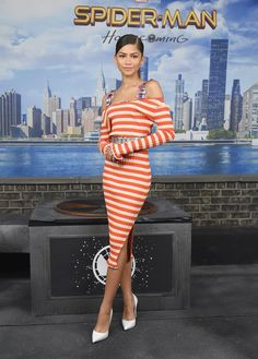 Zendaya attends the SpiderMan: Homecoming photocall in NYC 6/25/17