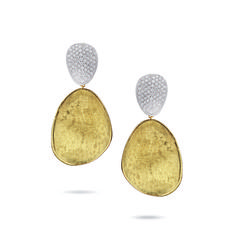 Lux Bond & Green | Marco Bicego Lunaria 18kyg and Pave Diamond Earrings Diamond Earrings