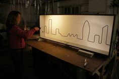 Light up skyline wire buzzer game