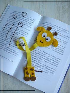 Giraffe Bookmark  http://onlyhandmade.pl/zakladki-do-ksiazek/20-zakladka-do-ksiazki-zyrafa-gertruda.html